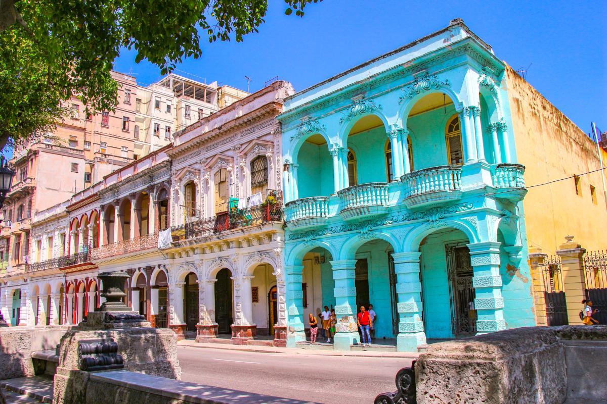 Bâtiments dans la vieille Havane Cuba