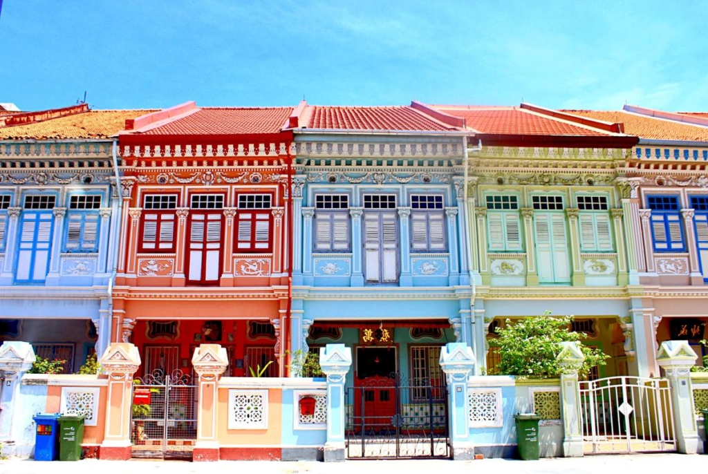 Chophous colorés de Singapour