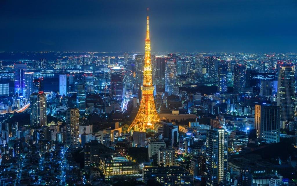La ville de Tokyo la nuit
