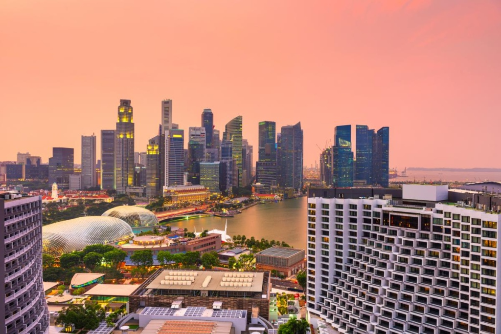 Le quartier financier de Singapour