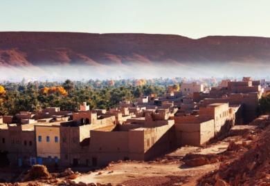L'oasis de Ait-Ben-Haddou Kasbah au Maroc