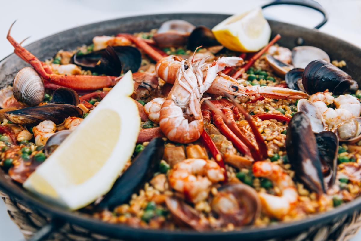 Paella de fruits de mer