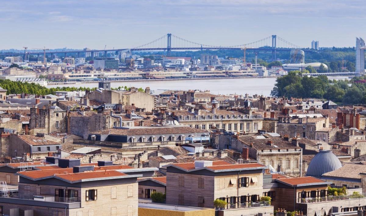 Panorama aérien de Bordeaux