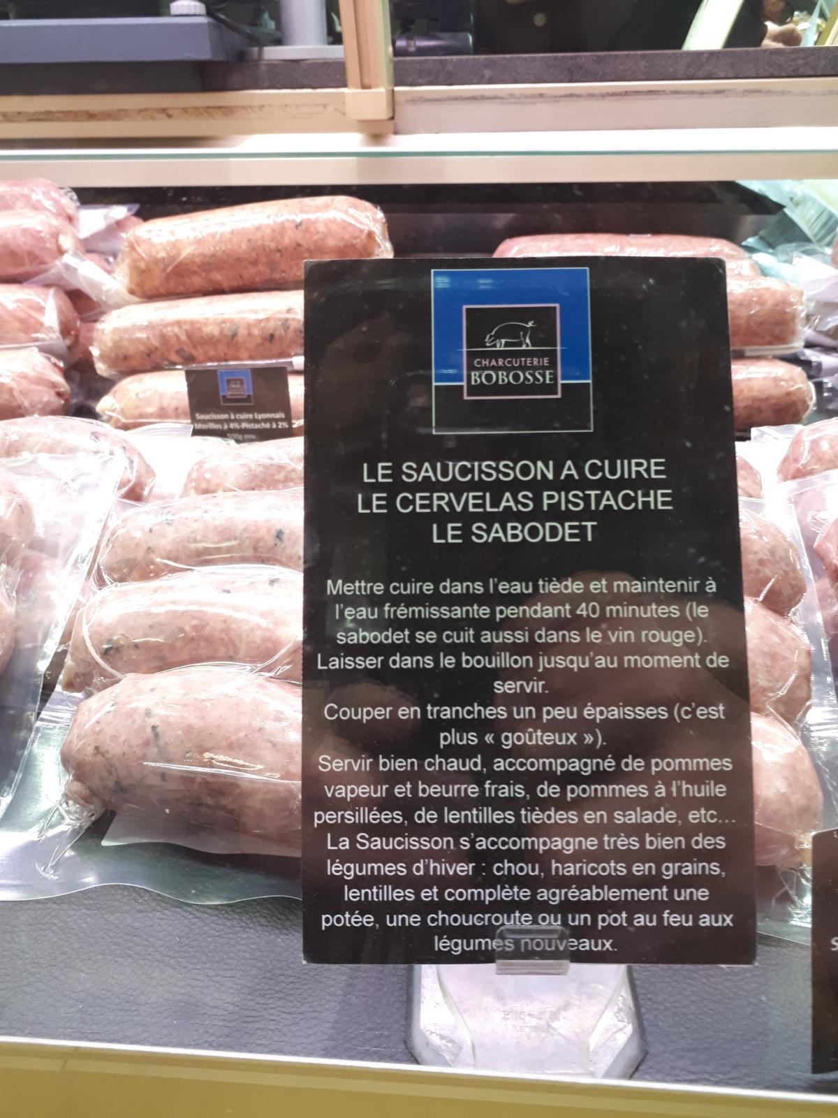 Saucisson à cuire, la spécialité Lyonnaise