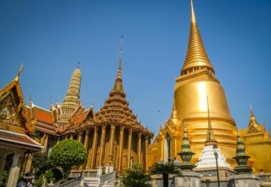 Temple d'or Wat Pha Khaw à Bangkok