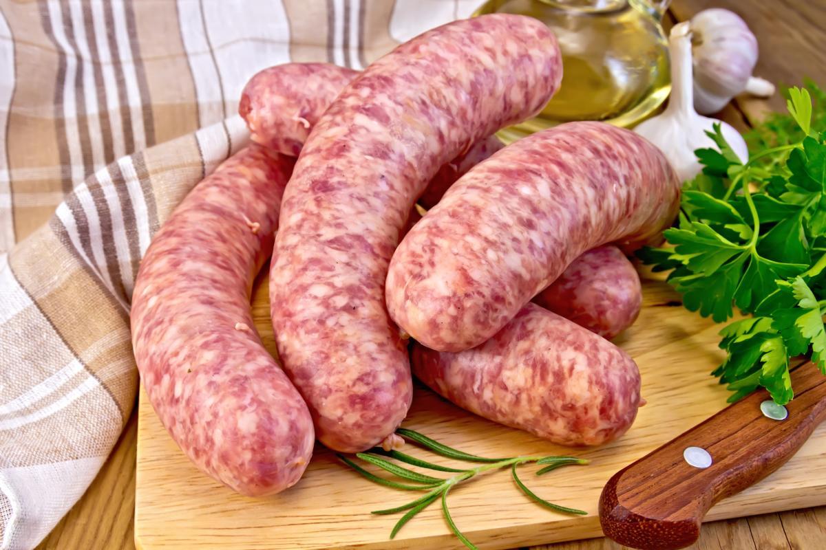 les longeôles saucisses à la couenne de porc