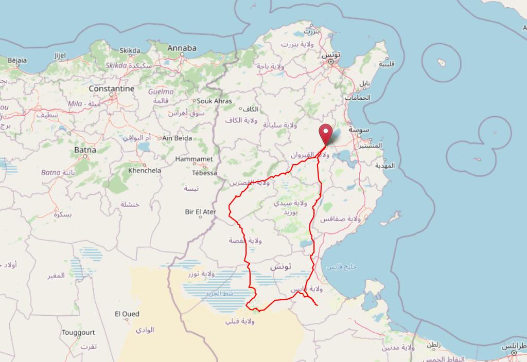Notre road trip en tunisie