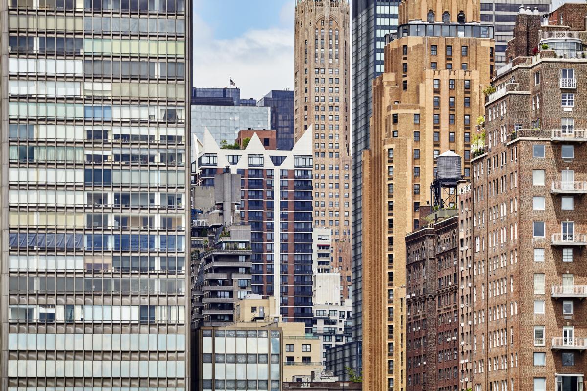 Les bâtiments de la ville de New York