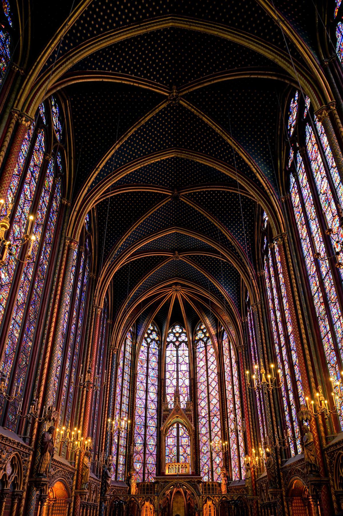 Les voutes du toit de la Saint-Chappelle à Paris