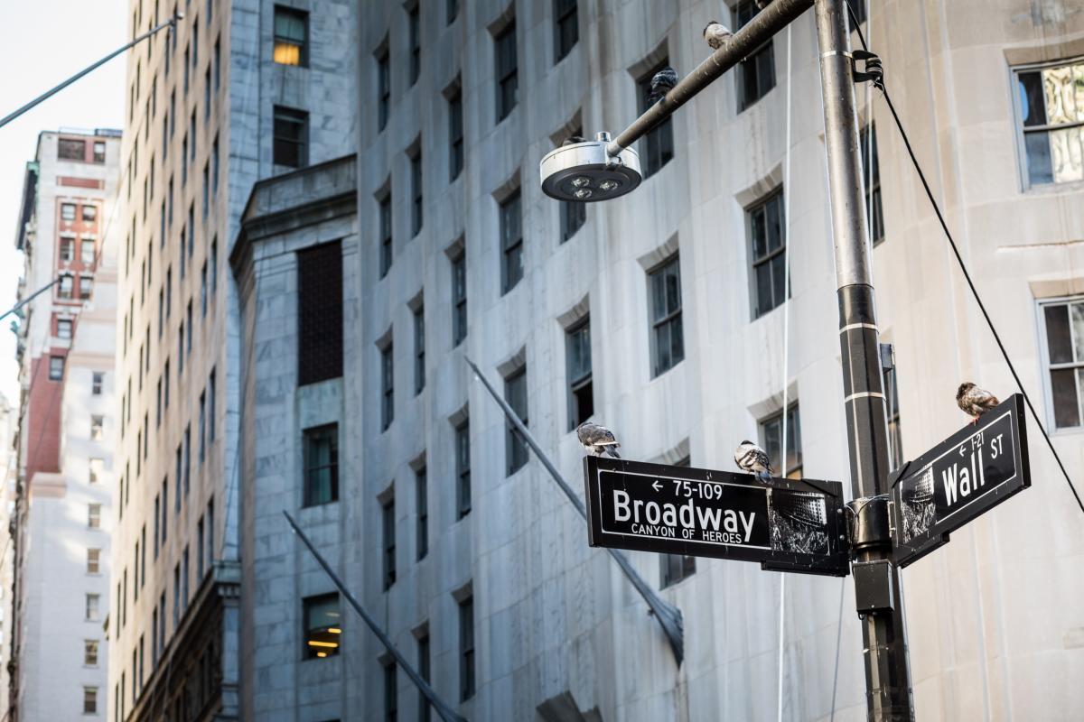 Panneau Wall Street à Manhattan City, New York