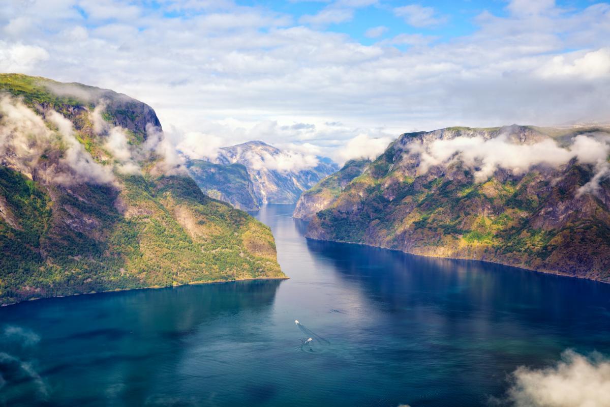 Paysage de fjord en Norvège
