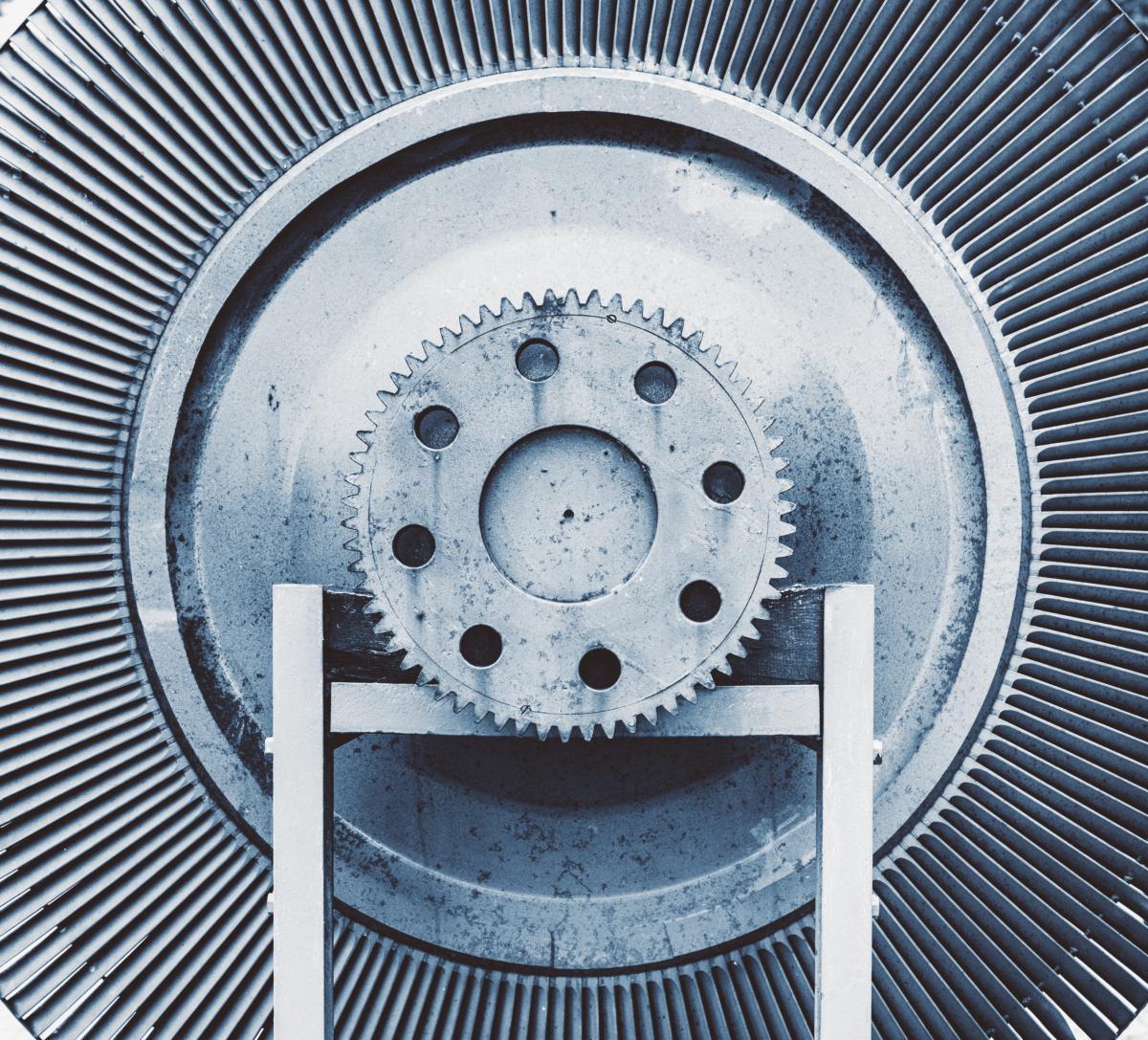 Vieux rotor de l'ancienne centrale électrique